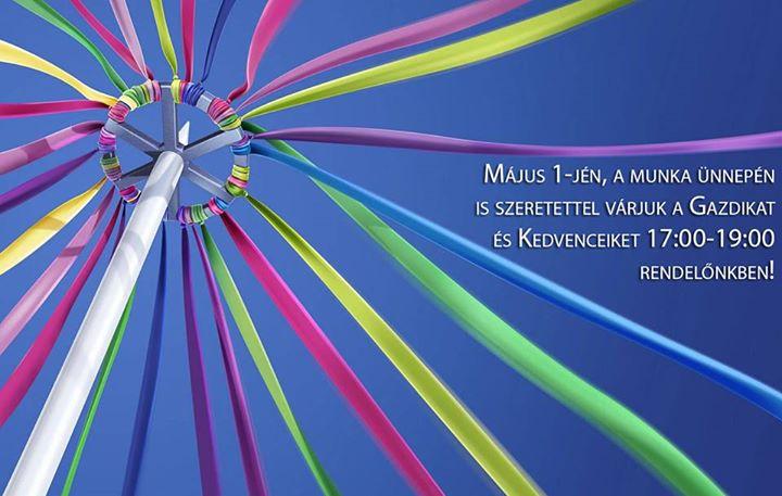Május 1-jén, a munka ünnepén is szeretettel várjuk a Gazdikat…